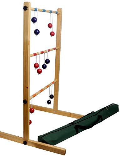 Izzy Leitergolf Holz 100cm Qualität Leiterspiel Wurfspiel Familen Kinder Outdoor-Spiel für Groß und Klein ab 3 Jahre