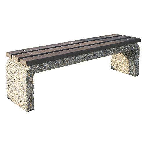 Certeo Betonbank ohne Rückenlehne | HxBxL 45 x 40 x 160 cm | Bank Parkbank Sitzbank Beton