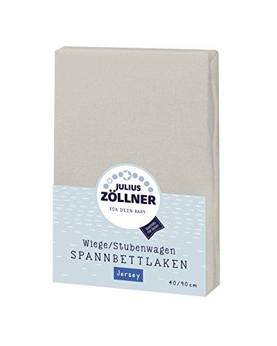 Julius Zöllner Jersey Spannbettlaken für Wiegen 90x40cm und Stubenwagen, 100{af5a7f0d3fdacfeb3e9d53f08e085febb6389d7b1242ac671127be5bee47591a} Baumwolle, STANDARD 100 by OEKO-TEX, taupe