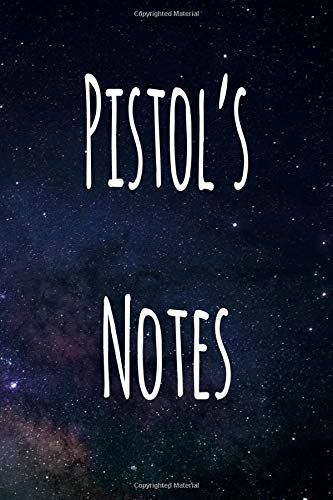 Pistol's Notes: Personalised Name Notebook - 6x9 119 page custom notebook- unique specialist personalised gift!