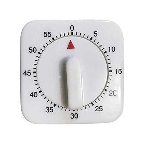 Rapoyo Küchentimer 60 Minuten Timer klein quadratisch Pendel Erinnerung mechanischer Timer Digital Küche Timer Kochzeit Analog Uhr Uhrwerk Countdown Mechanismus