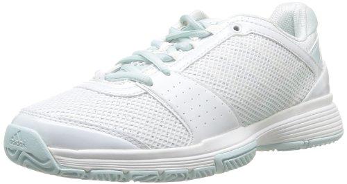 adidas Performance Damen Barricade Team 3 Tennisschuhe, Weiß (Running White FTW/Running White FTW/Fresh Aqua-SMC), 38