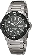 Casio Men's Diver Style Quartz Watch with Stainless Steel Strap, Silver, 23.8 (Model: MRW-200HD-1BVCF)