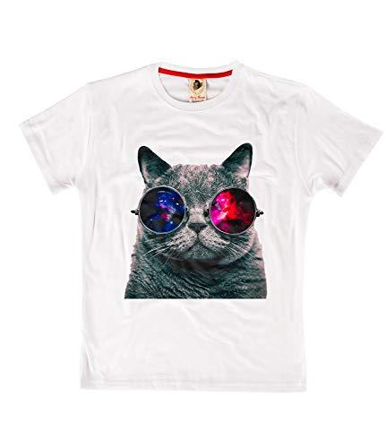 Kat Zonnebril Grappig Gift Designer Unisex T-Shirt