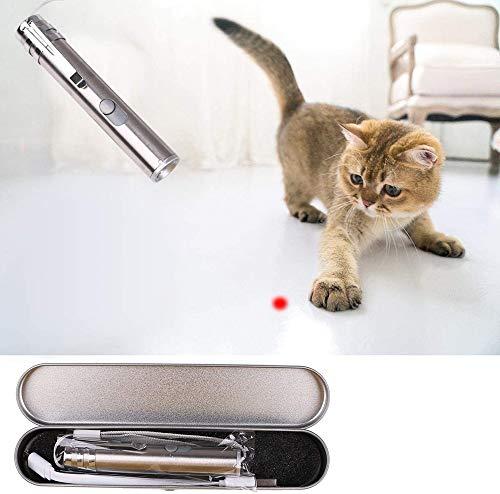 QANAN 2-in-1 Interaktives Katzenspielzeug für Hunde und Katzen, zum Fangen und Trainieren mit USB-Kabel