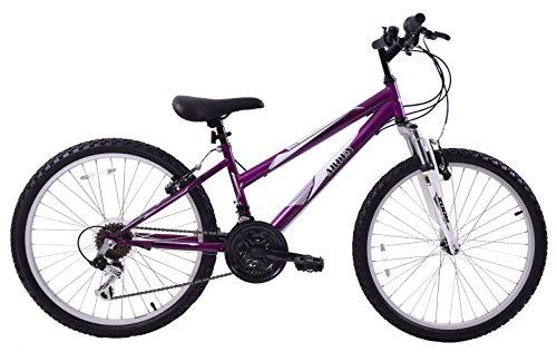 Arden Mountaineer Girls Kids Bike 24' Wheel Suspension Mountain Bike Purple Age 8+