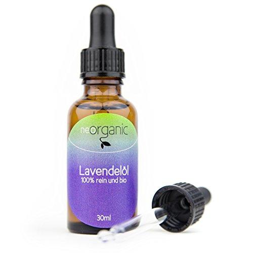Bio-Lavendelöl (Lavandula Angustifolia), für einen ruhigen Schlaf und gute Laune, 100% naturreines ätherisches BIO-Öl – 30ml
