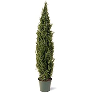 National Tree Company Artificial Shrub   Includes Pot Base   Arborvitae – 72 Inch