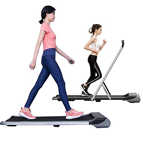RHYTHM FUN Treadmills Under Desk Treadmill Folding Treadmill Walking Pad Treadmill with Foldable Handtrail Slim Mini Quiet Motorized Treadmill with Smart Remote/Workout App for Home/Office