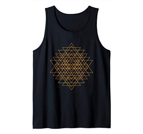 Línea de formas geométricas ángulos - Geometría sagrada Camiseta sin Mangas