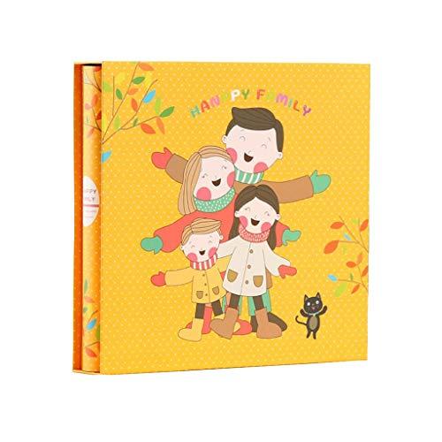 HongTeng Albums Photo Album Photo Grande capacité Mixte 5 Pouces / 7 Pouces 800 Feuilles intercalaires Livre de Croissance de bébé, Couple Couple de Voyage Album 32x30x5cm (Color : Happy Baby)