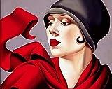 Cuadros Modernos Arte de Pared Lienzo Tamara De Lempicka Pinturas decoración del hogar Retrato Femenino Imagen HD Impresiones Cartel Retro 60x90cm