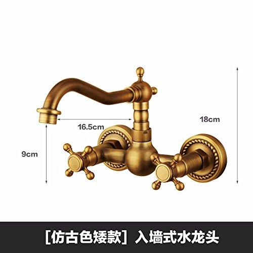 Bijjaladeva waterkraan badkamer waterval mengkraan wastafel wastafel armatuur voor badkamer dubbelklikken dubbele opening en koude kraan aan de muur gemonteerde schommel B