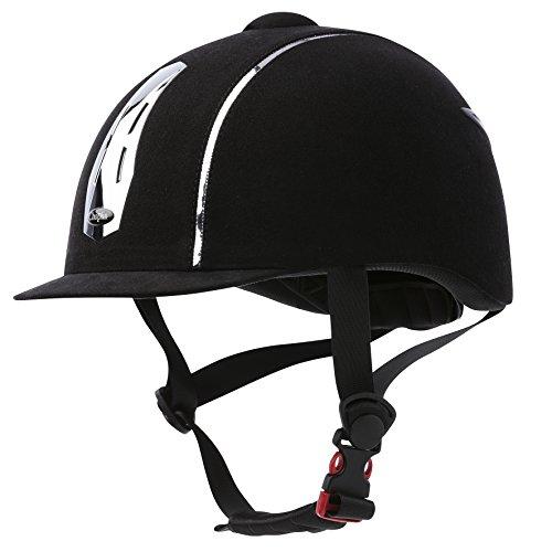CHOPLIN Unisex Aero 911507201 Verstellbarer Helm, Chrom, Schwarz, Größe 52-54