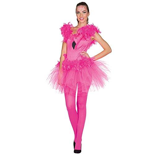 Kleid Flamingo Damen kurz Größe: 36