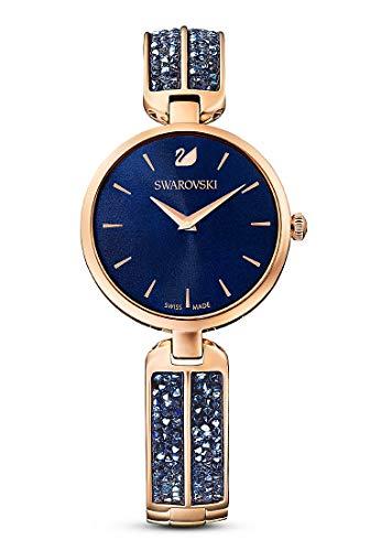 Swarovski Damen-Uhren Analog Quarz One Size Blau 32012333