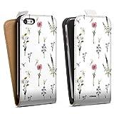 DeinDesign Étui Compatible avec Apple iPhone 5c Étui à Rabat Étui magnétique Fleurs Produit...