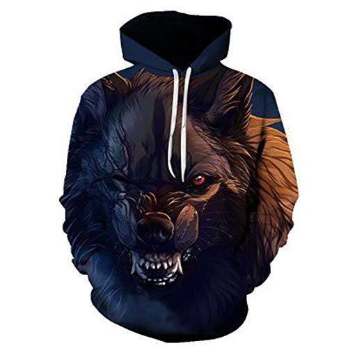 SLYZ Men's Autumn Personality Digital Animal Print Long-Sleeved Men's T-Shirt Sweater