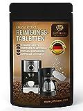 Coffeeano 80 Reinigungstabletten Eco für Kaffeevollautomaten und Kaffeemaschinen Clean&Protect. Für alle Marken und Geräte. Umweltfreundliche Verpackung aus Kraftpapier