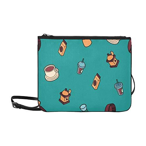 Weiche Umhängetasche Nette Cartoon-Kaffeemaschine Werkzeugverstellbarer Schultergurt Sturday Handtaschen Für Frauen Mädchen Damen Handtasche Reisetaschen Cross Body