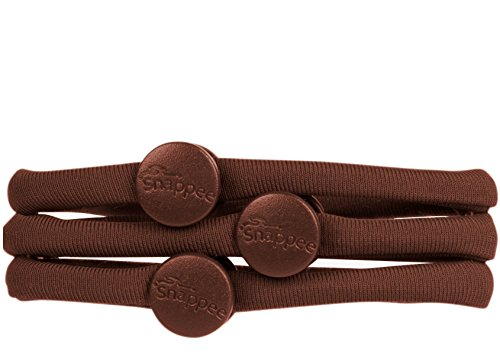 Snappee Snap-Off Hair Ties - For Curly/Thick/Natural Hair & Buns/Ponytails/High Puffs/Top...