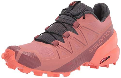 Salomon Women's Speedcross 5 W Trail Running Shoe, Brick Dust/Persimon/Persimon, 5
