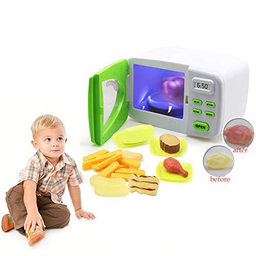 1 juego mágico de microonda juguete de los niños Los juegos de simulación de cocina de juguete eléctricos para el de electrodoméstico Modelo Juguetes para niños de más de 3 años (batería no incluida)
