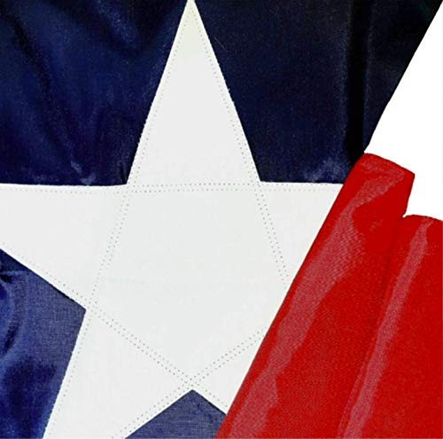 Texas Flag 5x8 - Made in USA. Premium Texas State Flag. Appliqued Star and Sewn Stripes – Flag of Texas Made in America by Rushmore Rose