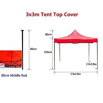IPOTCH Couverture de Tente Toile Pare-Soleil Pliante en Tissu Oxford Léger et Résistant à l'usure pour Sport de Plein Air - Bleu, 3x4.5m