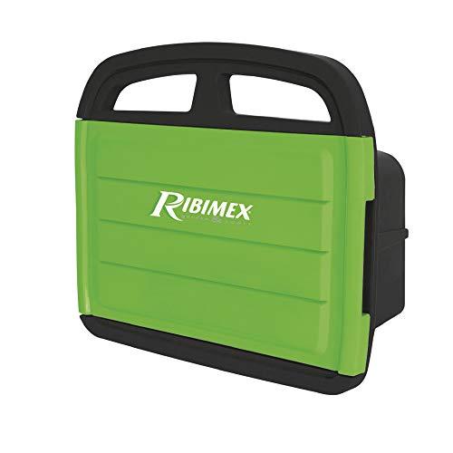 Ribimex PRA/DV.9103 Portatubo da Parete con Porta Accessori, Nero/Verde