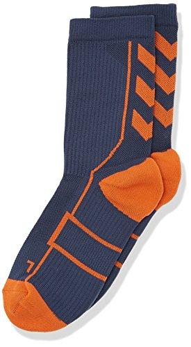 hummel Kinder Tech Indoor Sock Low, Ombre Blue/Nasturtium, 10/36-40