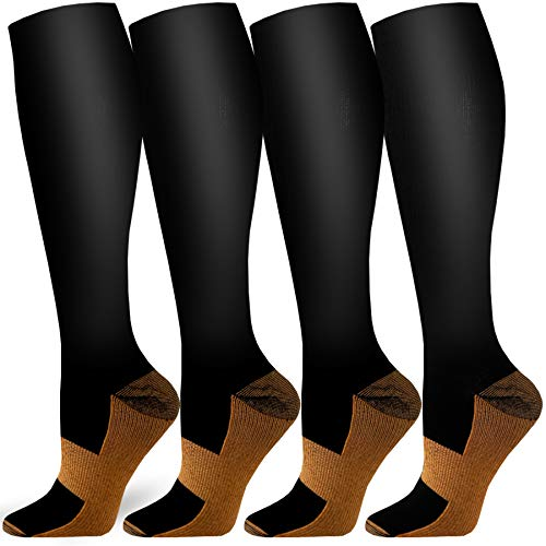 Compression Running Socks For Men Women 3,6,10 Pairs Cushion Socks Fit for Athletic,Travel/& Medical