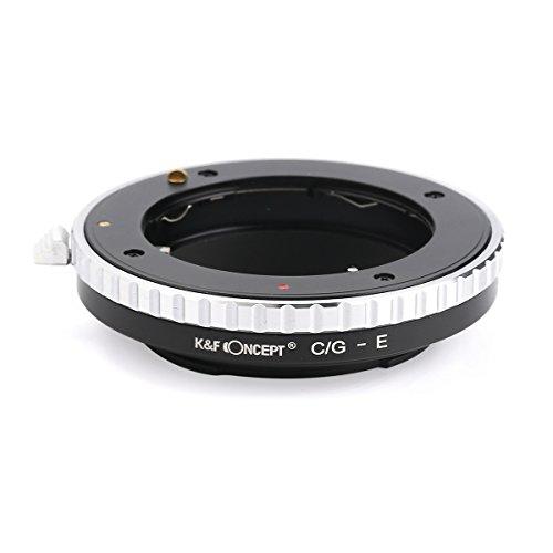 K&F Concept レンズマウントアダプター KF-CGE (コンタックスGマウントレンズ → ソニーEマウント変換) フォ...