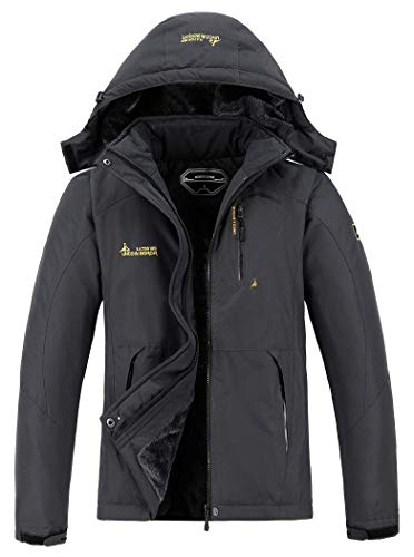 MOERDENG Men's Waterproof Ski Jacket Warm Winter Snow Coat...
