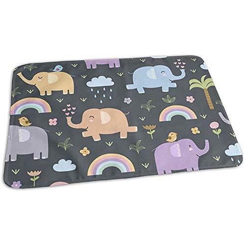 Bebé Cambiador,Patrón De Elefantes Divertidos Alfombrillas Impermeables Para Cambiar Pañales Para El Coche De Cuna Todller 50cmx70cm