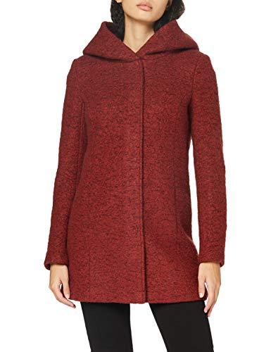 ONLY Damen ONLNEWSEDONA Wool Coat CC OTW Wollmischungs-Mantel, Detail:Melange/Fired Brick, M