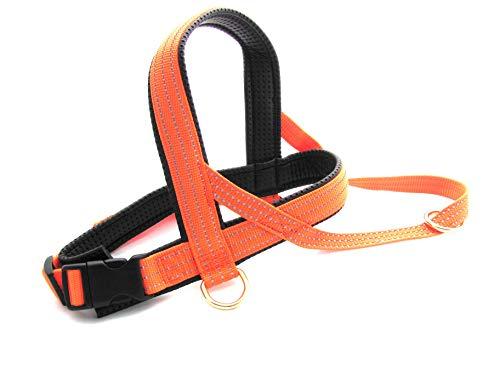 Limex Geschirr Neopren/Orange Neon Reflex Gr.7 100-110cm