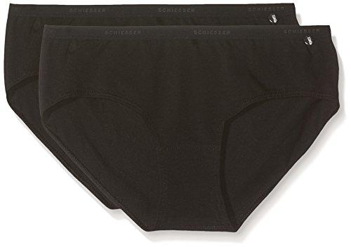 Schiesser Mädchen Unterhose 95/5 2er Pack 2 Schwarz (Schwarz 000), 152 (Herstellergröße: S)