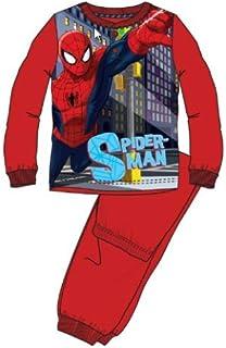 Spiderman HQ7000.E00.B, Pijama de Una Pieza para Niños, Rojo, 8 años