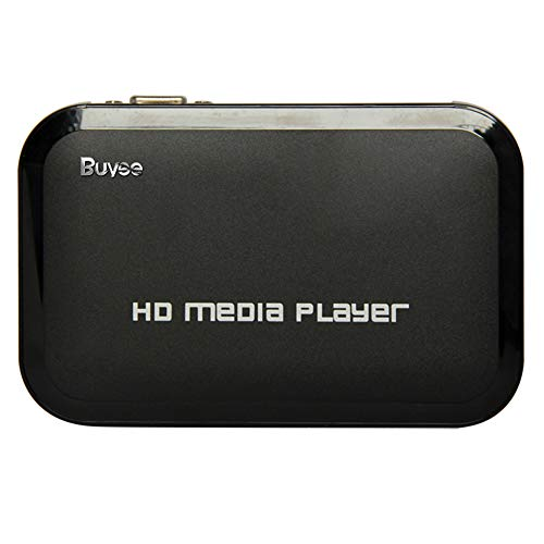 Best Deals! Buyee Portable HD for 1080P Resolution Multi Media Player 3 Outputs Hdmi, Vga, Av, 2 Inp...