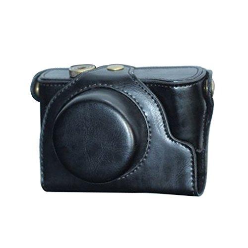 smartar Custodia/Cover/Custodia/Case/fotocamera sacchetto di dispositivo di protezione in pelle PU per Fujifilm FinePix X10X20X30(Nero)