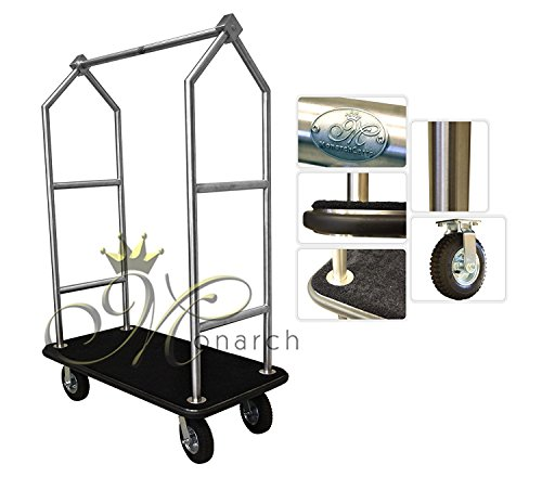 Monarch Carts Stainless Steel Hotel Luggage Cart MCL204S