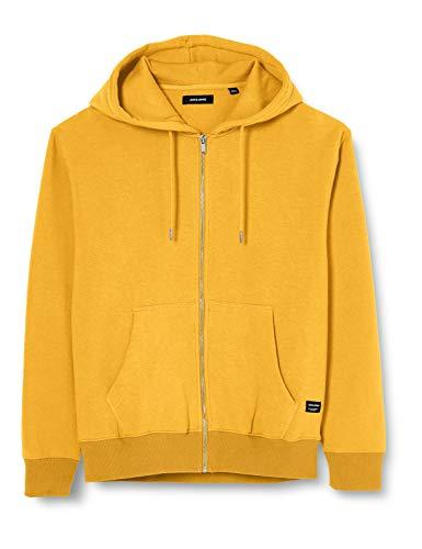 JACK & JONES Mens JJESOFT Sweat Zip Hood NOOS Jacket, Yolk Yellow, L