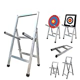 AKA Sports Gear Adjustable Archery Target Stand-Heavy Duty |Portable Steel Stand for Archery Target |