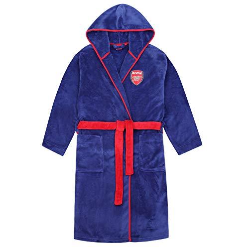 Arsenal FC - Jungen Fleece-Bademantel - Offizielles Merchandise - Geschenk für Fußballfans - 5-6 Jahre