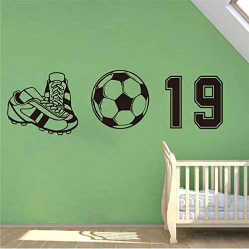 Muursticker, voetbalschoenen 30x95cm PVC DIY art home decor voor kinderkamer woonkamer muurtattoo verwijderbare douane kantoor verjaardagscadeau