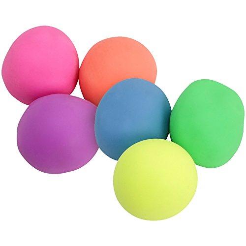 com-four® 6X Antistressball für den Stressabbau und zum Spielen, orange, pink, grün, gelb 5,5 cm (06 Stück - bunt)