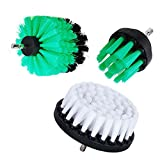 HIFROM 3 PCS,Multi-Function Multi-Angle Soft and Medium Drill Brush Power Scrubbing Brush Drill Attachment for Cleaning Showers Tubs Bathrooms Tile Grout Carpet Tires Boats Upholstery
