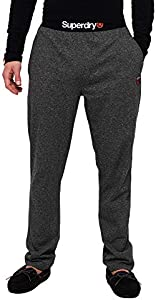 Superdry Laundry Jersey Pant Ropa Interior Deportiva, Negro (Lounge Black Feeder V6h), XS para Hombre