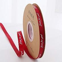 """DDDCM 10mm""""handgemaakte"""" gedrukt polyester lint met letter gedrukt lint for gift verpakking (Kleur : Just 10mm Burgundy, G..."""